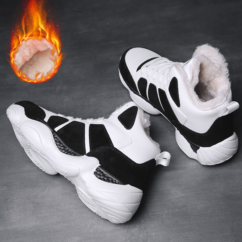 NORTHMARCH 2019 Mens Sneakers Winter Fashion Keep Warm Casual Leather Shoes Winter Krasovki Men Footwear Chaussure Homme Hiver