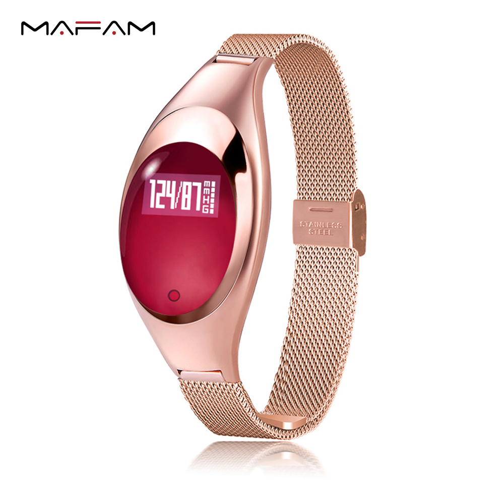 MAFAM Z18 Women Blood Smart Wristband Pressure Oxygen Heart Rate Monitor Pedometer Fitness Tracker For Android iOS Bracelet