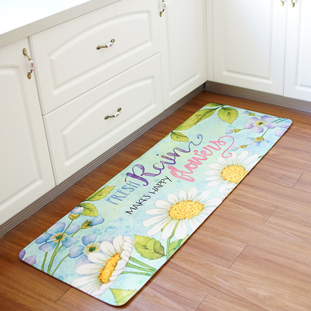 55x160CM Kitchen Floor Mat Home Entrance Door Mats Water Absorbing Non Slip  Bathroom Door