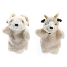Lovely Sheep Hand Puppet Baby Kids Developmental Soft Doll Plush Toy Goat Hand Puppet Toys Parent-child Interactive Puppet