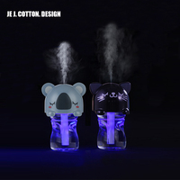 Cute Animals Air Humidifier With Cartoon Bottle Mist Maker Aroma Diffuser With LED Lamp Mini USB