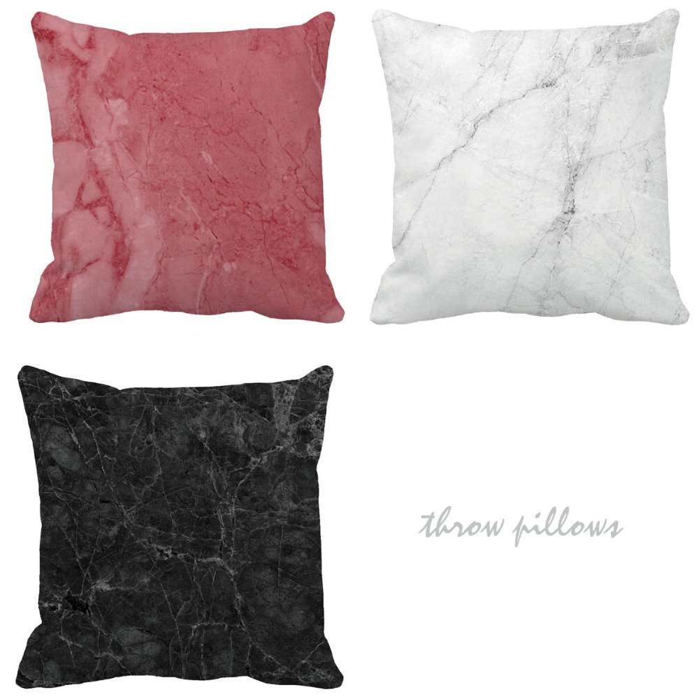 Marble Grain Print Custom Personalised Cushions For Sofa