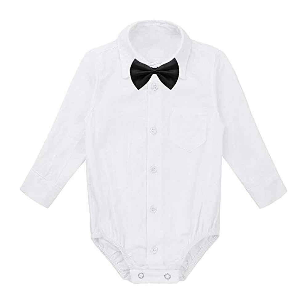 Торжественные рубашки для новорожденных мальчиков; боди для джентльмена; одежда для свадебной вечеринки; боди для малышей; одежда для малышей