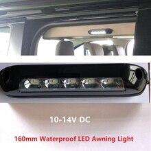Водостойкий светодиодный тент приложение свет 12 В DC внешний бар RV Кемпер Автоприцеп повышенной грузоподъемности off road Motorhome караван внутренний настенный светильник