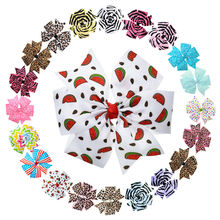 "20PCS 4""-4.5"" Zebra & Polka Dot & Leopard Printed & 4th Of July Hair Bows Unique Hair Clips Fashion Barrettes For Women(China)"