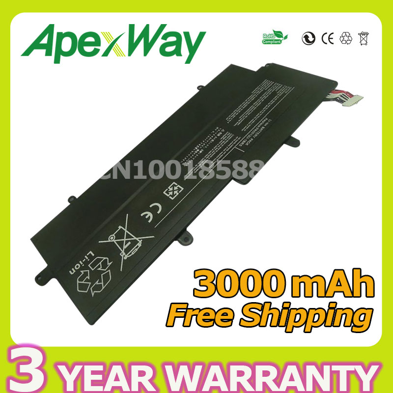 Apexway NEW 4 Cell 3000mAh REPLACE PA5013U-1BRS PA5013U laptop battery For Toshiba Portege Z830 Z835 Z930 Z935 Ultrabook Series 14 8v 47wh original laptop battery for toshiba z830 z835 z930 z935 pa5013u 1brs