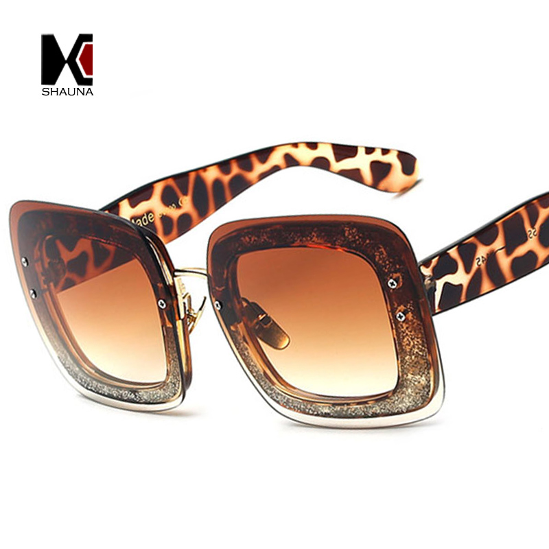 Бить ШОНА Женщины Квадратных Очки Steet Женская Модная Прозрачный Кадр Очки UV400