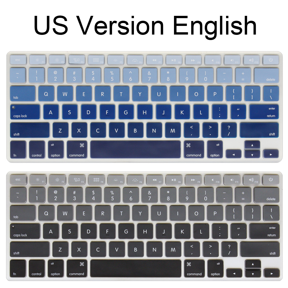 Silicone US Version English Alphabet Gradient Colors