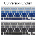 Silicone US version English alphabet Gradient Colors Keyboard Cover Stickers Protector for MacBook Air Pro 13 15 inch Retina