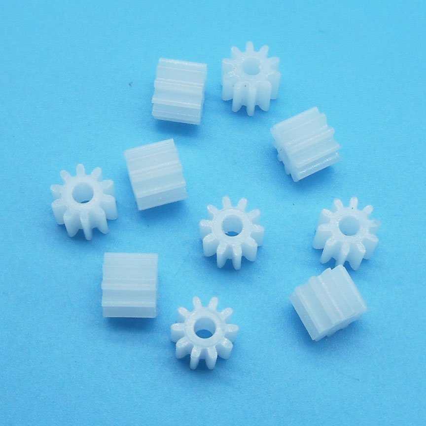 102A 0.5M Pinion Gear Modulus 0.5 10 Tooth Plastic Gear Motor Parts Toy Accessories 10pcs/lot