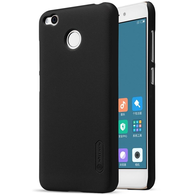 case for xiaomi redmi 4x case cover 5.0 inch NILLKIN Frosted PC Plastic hard back cover + Screen Protector redmi 4 x case capa