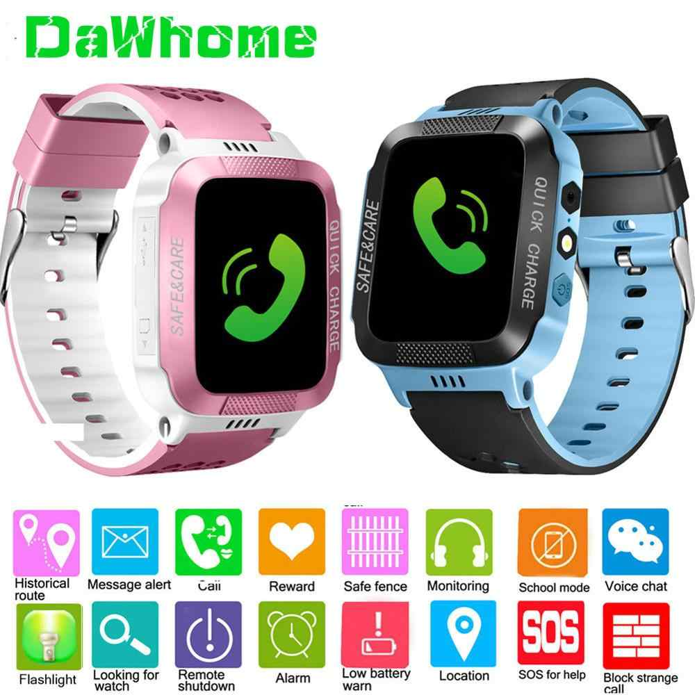 Children SmartWatch Sports SIM Card Positioning LBS Kids Watch Wrist Fitness Track Location SOS Call Safe Care for Boy&Girl