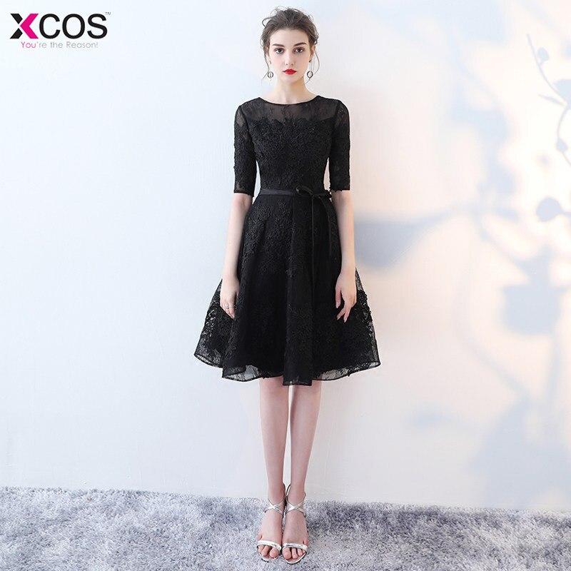 In Stock Red Cocktail Dresses 2018 Elegant Short Little Black Dress