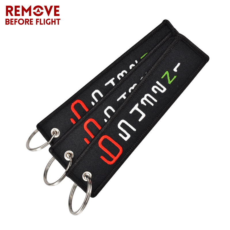 3PCS New Embroidery Keychain Bijoux 6 <font><b>5</b></font> <font><b>4</b></font> <font><b>3</b></font> 2 N <font><b>1</b></font> Keychains for Motorcycles Car Tag Label Cool Key Fobs OEM Key Ring chaveiro image