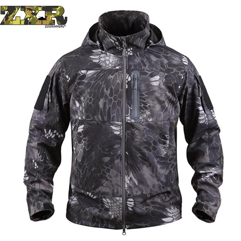 Vêtements Militaire Manteau 3 4 5 2 Automne Armée Hommes Hiver Vestes Coupe Soft Shell Veste Chasse Tactique Étanche Camouflage 1 vent HwnfUnZ