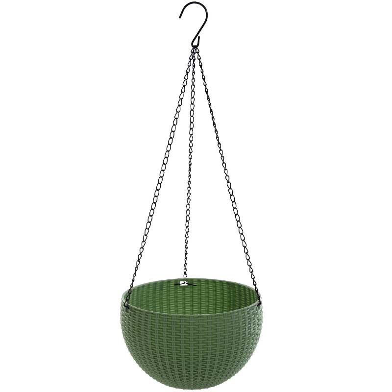 Rattan hanging basket plastic flower pot hanging gardening resin flower pot creative environmental protection dill water hanging in Hanging Baskets from Home Garden