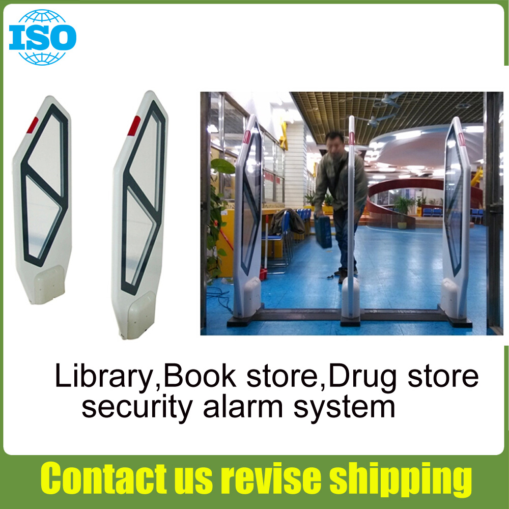 EAS Library Security System,library Access Control System With Sound And Light Alarm 2security Door And 1main Machine