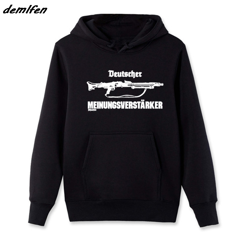 55a015a3642 New Spring Autumn Cool Hoodie German Opinion Supporter Mg42 Machine Gun 7 .92  57mm Sweatshirt Cool Jacket Coat Streetwear-in Hoodies   Sweatshirts from  ...