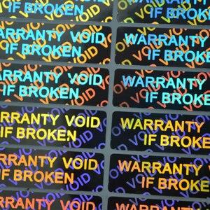 Image 5 - Autocollant nul de garantie si cassé, étiquette holographique à Laser pour hologramme, après retrait