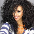"22""long afro Kinky CurlyWigs Short Synthetic Wigs For Black Women Black Hair Wig African American Synthetic Cheap Wigs for Women"
