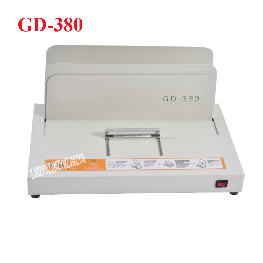 1PC GD 380 A3 A4 Sleeve type automatic glue machine ,financial credentials, document,archives binding machine
