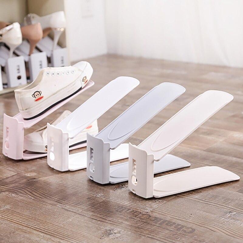 Washable double shoe rack shoe organizer Stand Shelf Living Room Organizers Convenient Shoebox Shoemaker Storage Space Saver