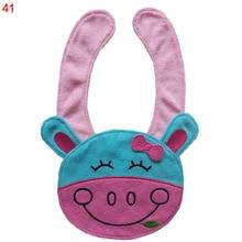 Cute Animal Style 41-60 Waterproof Infant Bibs Kids Baby for Lunch Cotton Saliva Towel Bibs   Burp Cloths