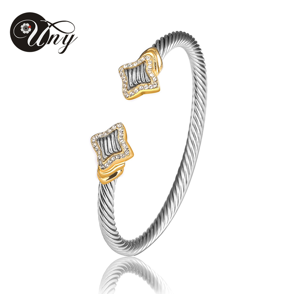 UNY Bangle Twisted Wire Bracelet Antique Cable Bangles Luxury Designer Brand Vintage Love Christmas Gift Women Cuff Bracelets luxury brand love bracelets