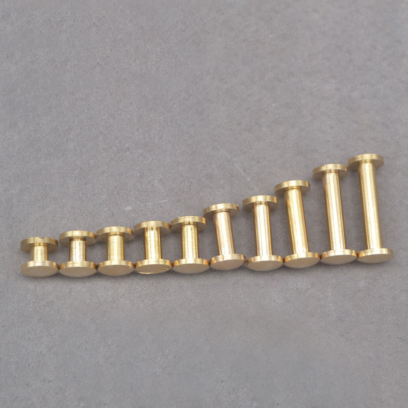 4/5/6/7/8/10/12/15/18/20mm Solid Brass Chicago Screw Nail Stud Rivet Gold Strap Fastener Assembling Bolt suitcase Hardware4/5/6/7/8/10/12/15/18/20mm Solid Brass Chicago Screw Nail Stud Rivet Gold Strap Fastener Assembling Bolt suitcase Hardware
