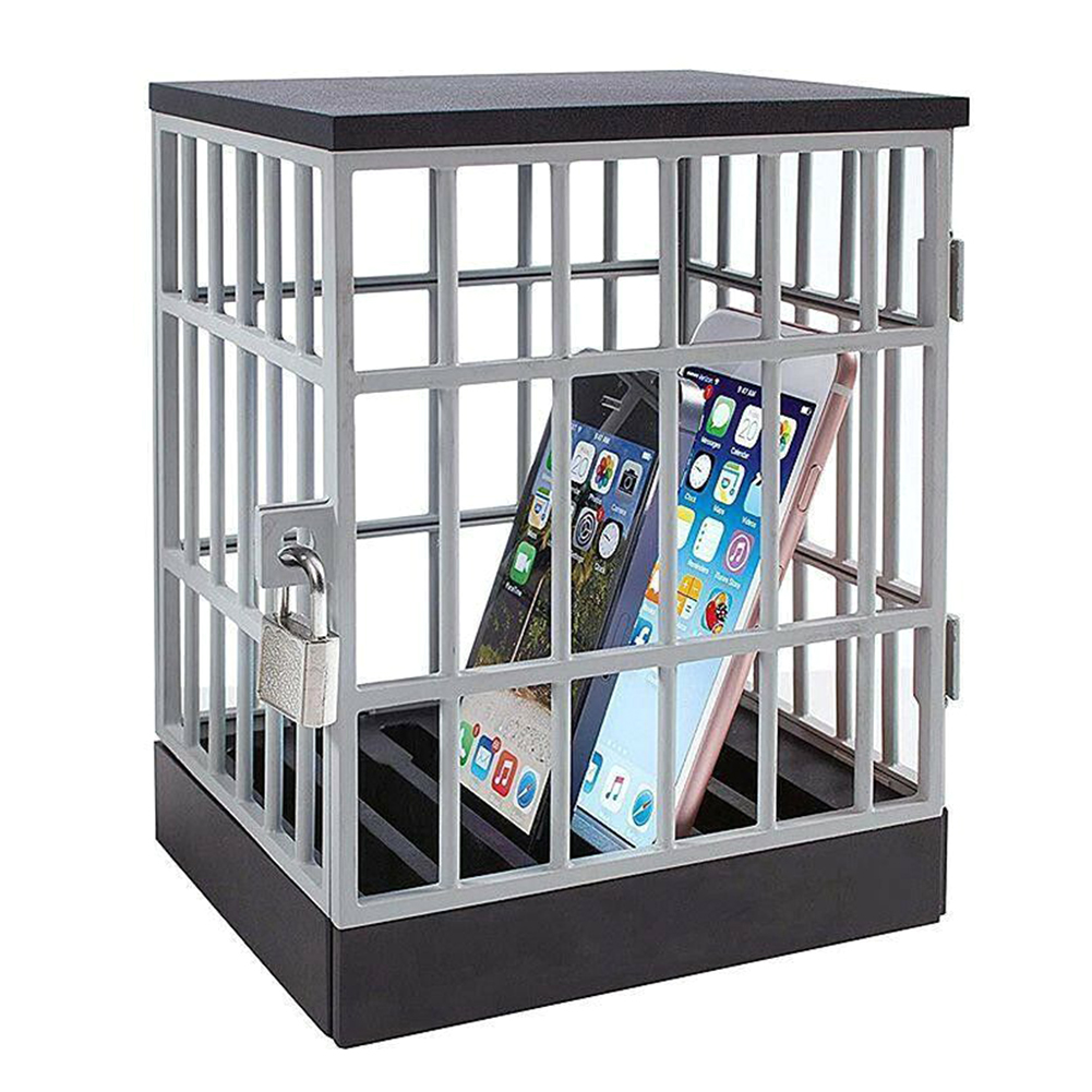 New Mobile Phone Lock Up Box Stand Holder Safe Smartphone Home Table Office Gadget