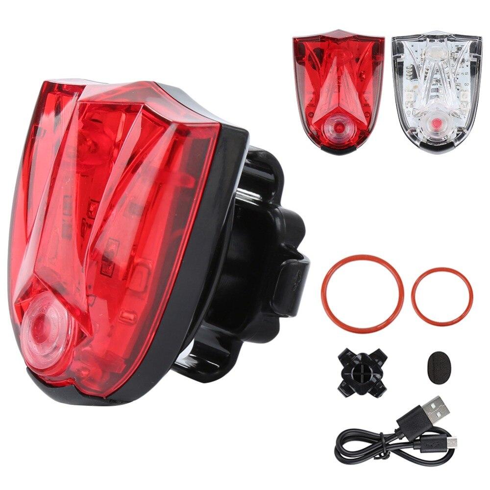 Hot Sale USB Rechargeable LED Bicycle Tail Light Bike Rear LED Light Waterproof Bike Safety Warning Lamp Flashing Helmet Light