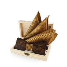 Модный деревянный джентльменский Карманный квадратная Подарочная коробка брошь галстуки-бабочки ручной работы бабочка Свадебная вечеринка деревянный галстук костюм