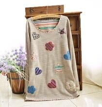 Spring Autumn Cute Appliques Linen Cotton font b Maternity b font shirt Pregnancy Tops shirts font