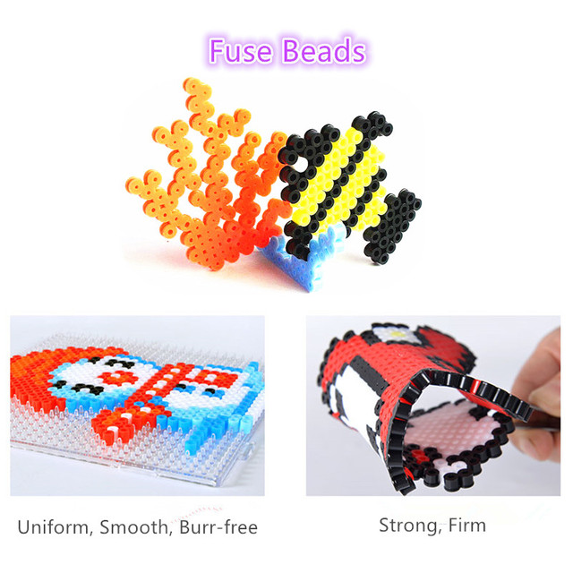 48 Colors 5mm Hama Beads Puzzle Education Toy Jigsaw Puzzle Perler Beads 3D Puzzles Fuse Beads For Children 1000pcs/bag