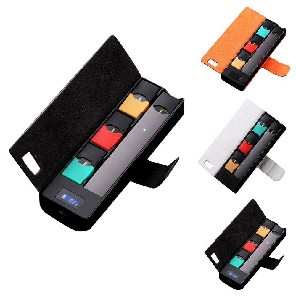 Compatível Universal Carregador Portátil de Carregamento Caso Titular Vagens W LCD Indicador De Carga Para JUUL #810