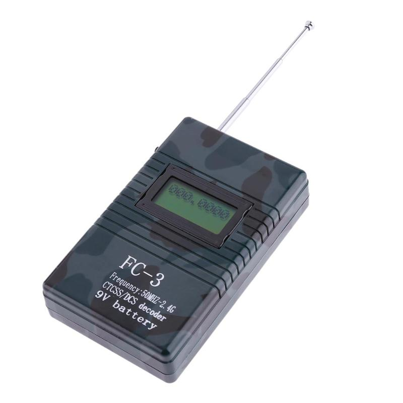 FC-3/ RK560 50MHz-2.4GHz Portable Handheld Frequency Counter DCS CTCSS Radio Testing Frequency Meter Counter High Quality