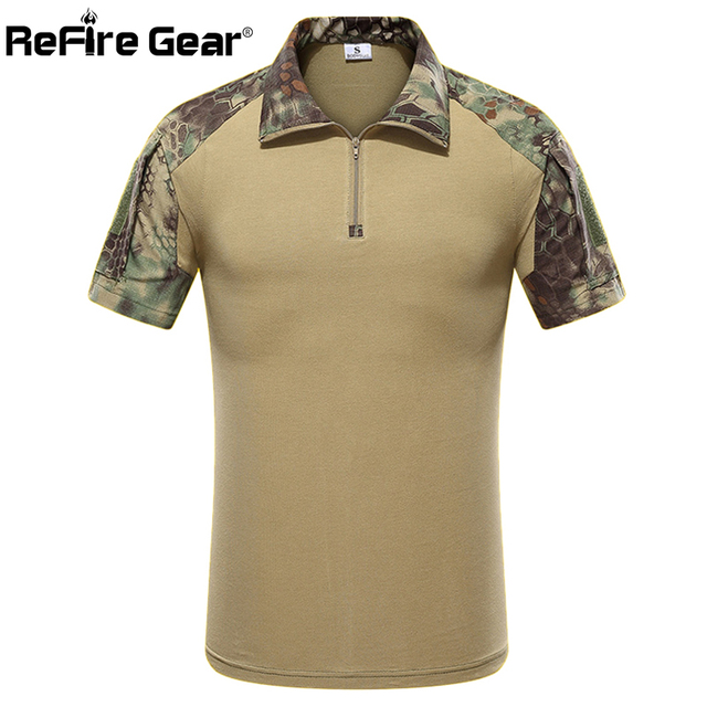 9990037ebe Summer Camouflage Military Uniform US Army Combat T Shirt Men Short Sleeve  Multicam Camo Paintball Airsoft Cargo Tactical Shirt
