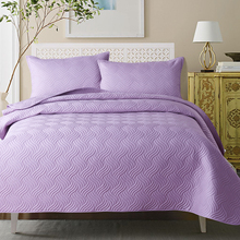 New Beige Red White Purple Blue 100% Quilted Cotton Comfortable Blanket Tatami Mat Bedspread Bed sheet Linen Pillowcase 3pcs