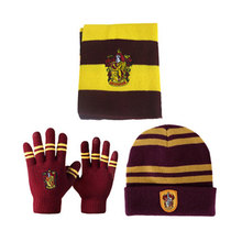 Harri Potter Scarf Scarves Touch Gloves Hat Gryffindor/Slytherin/Hufflepuff/Ravenclaw Scarves Hat Touch Gloves Scarf Toys Gift