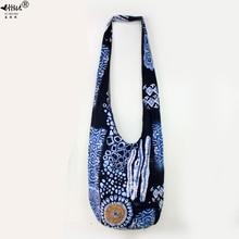 Sling Crossbodyกระเป๋าสะพายกระเป๋าHippie Hoboผ้าฝ้ายยิปซีBohemian Bohoสาวหนังสือโรงเรียนกระเป๋ากระเป๋าฟรีของขวัญ