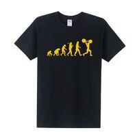 Summer New Evolution Of Weight Lifting T Shirt Men Funny Hip Hop T Shirts Men Short