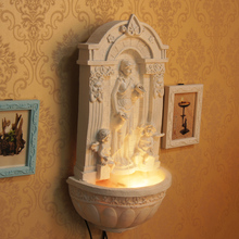 European rockery fountain water.. Feng shui wheel. Humidification home. The decoration handicraft furnishing articles