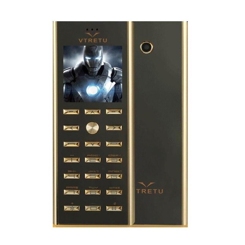 Mampa mince petite Mini carte de crédit de luxe corps en métal double SIM téléphone GSM Senior Bar téléphone Mobile étudiant enfant P039
