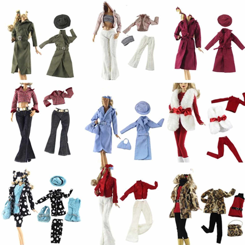 15 Styles One Set Doll Dress Fashion Super Model Coat Modern Outfit Daily Wear For  Doll Accessories Gift Baby Toys