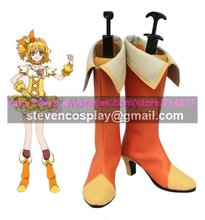 Custom-made Cheap Pretty Cure Cure Pine Cosplay Boots Cosplay Shoes Halloween(China)
