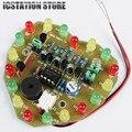 Controle De luz CONDUZIU A Luz Melodia Suíte Produção Eletrônica Kit Em Forma de Coração de Presente de Aniversário DIY