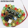 Light Control LED Melody Light Electronic Production Suite Heart Shaped Birthday Gift DIY Kit