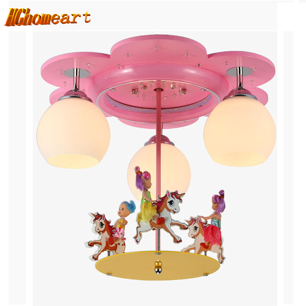 Creative Dream Carousel Led Cartoon Child Light Bedroom Cartoon Chandelier  Girl Princess Room Chandelier Lighting. Popular Girls Bedroom Chandelier Buy Cheap Girls Bedroom