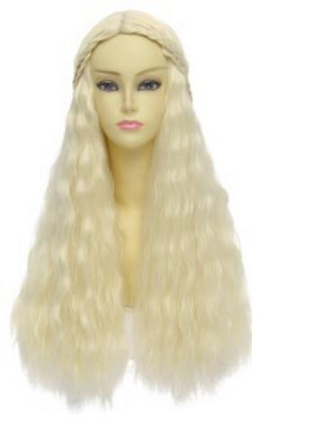 A Song of Ice and Fire Fibre hair Wig Hair Hairpiece Daenerys Targaryen Blonde Long Curly