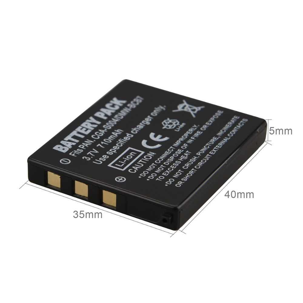 Haute Qualité 710 mAh Rechargeable CGA-S004 CGA-S004E Batterie Pour Appareil Photo Panasonic LUMIX DMC-FX7 DMC-FX2 FX2 FX7 DMW-BCB7 Batterie